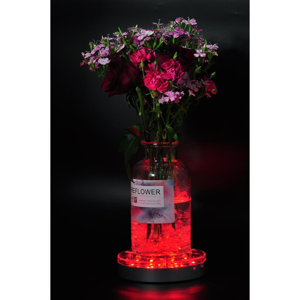 RGB Color Changing 6inch LED Centerpiece Light Base With 19pcs Super Bright SMD5050 LED ForHome Vase Lighting, Hookah Decoration