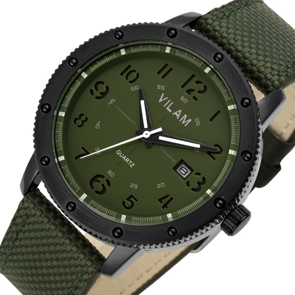 Vogue Men Waterproof Quartz Outdoor Sports Army Green ...