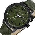 Vogue Men Waterproof Quartz Outdoor Sports Army Green Watches Relogio Masculino Clock Carbon Fiber combine Genuine Leather Strap