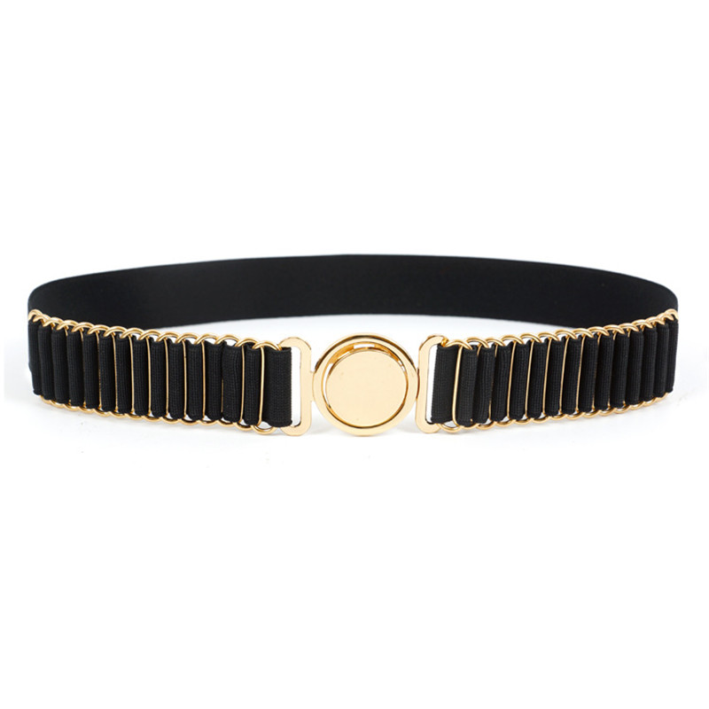 New Brand Belts For Women Fashion Beauty Round Metal Buckle Belt Vintage Lady Elastic Designer Waistband Strap Luxury  BL201807