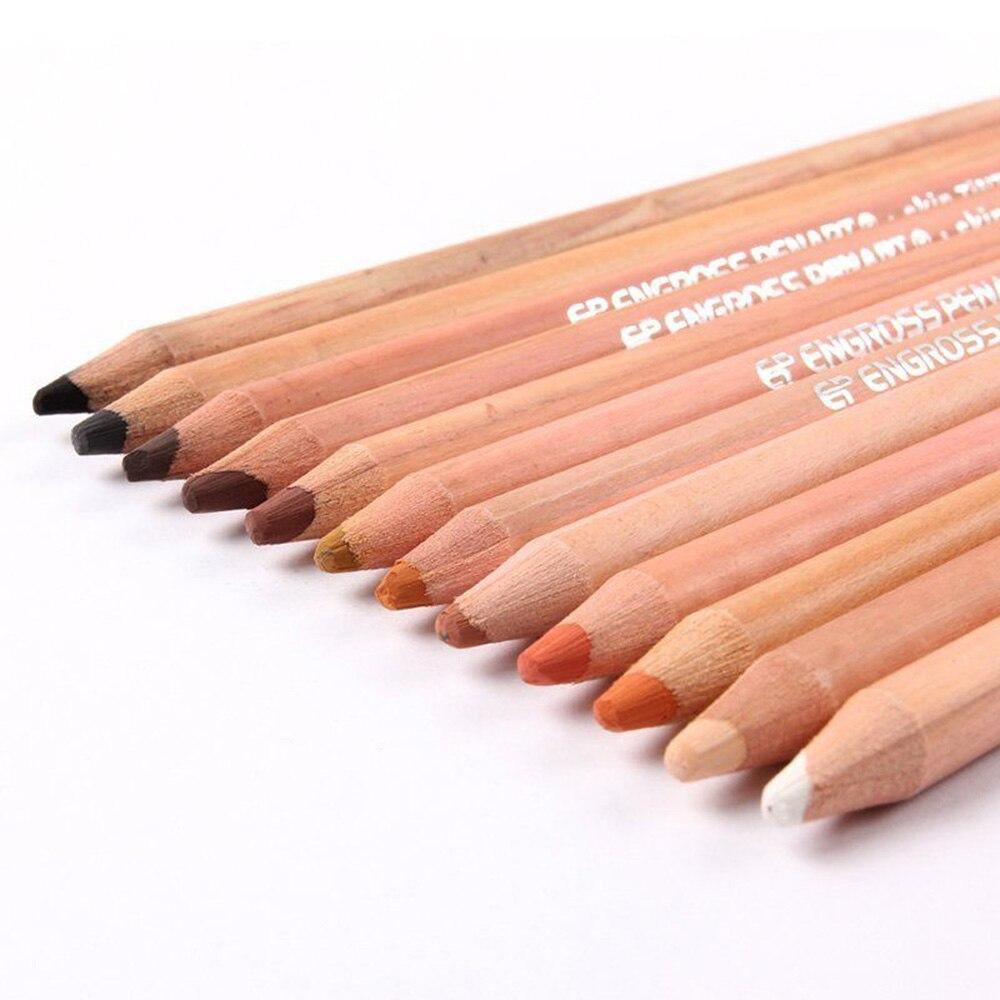 12 Profesional Lembut Pastel Pensil Warna Kayu Kulit Pinsil Tints Untuk Menggambar Alat Tulis Sekolah Lapices De Colores Di Standar Dari