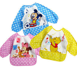 lovely Baby Kids Infant water resist Feeding baby Bibs Apron Art kids Smock shirts Retail & Wholesale