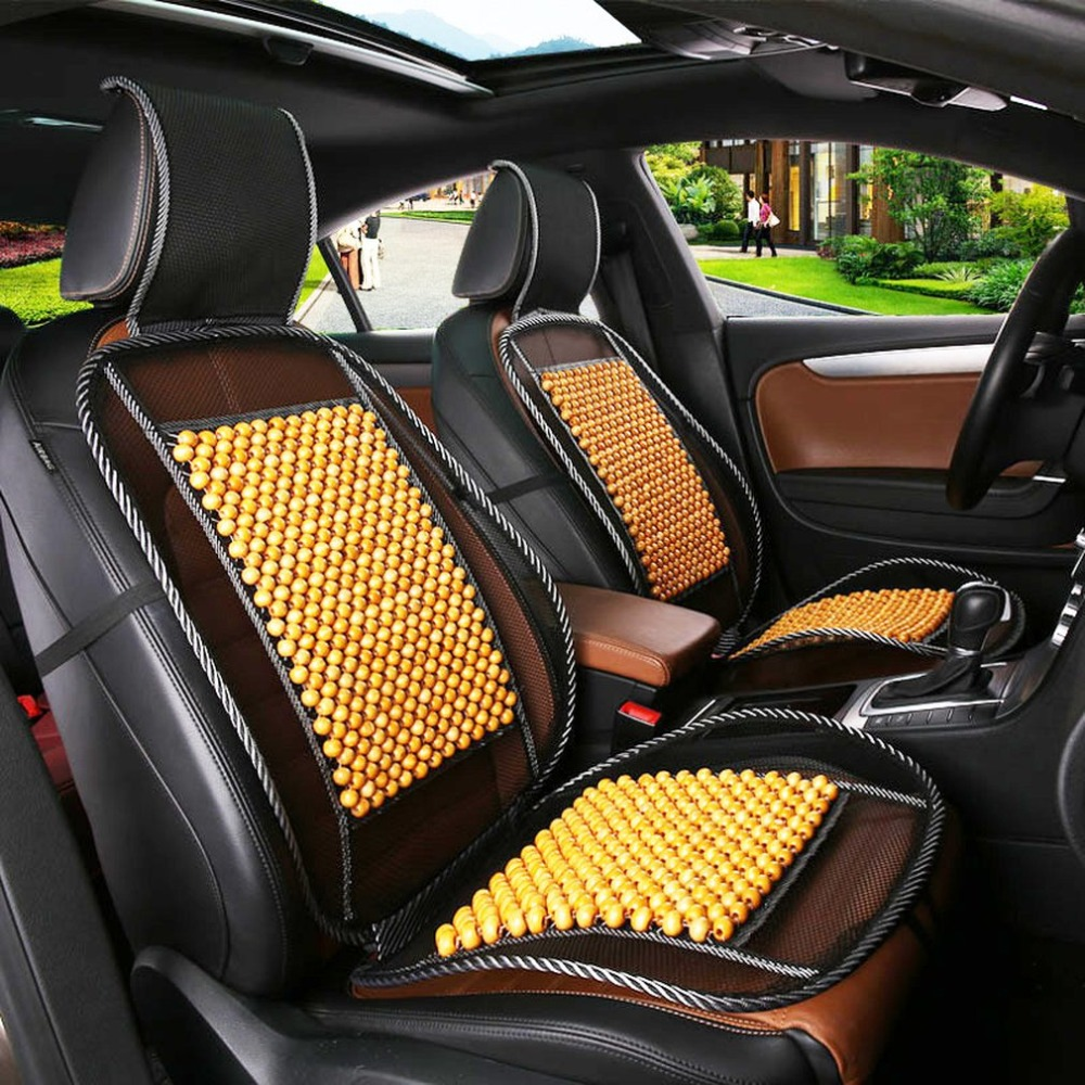 Universal Massage Wood Beads Car Seat Cover Summer Cooling Cushion Mesh Mat Car Styling