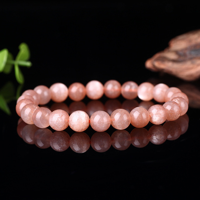 Joursneige Aaa Natural Moonstone Bracelet 7 9mm Beads Orange Color Stone Bracelets For Women