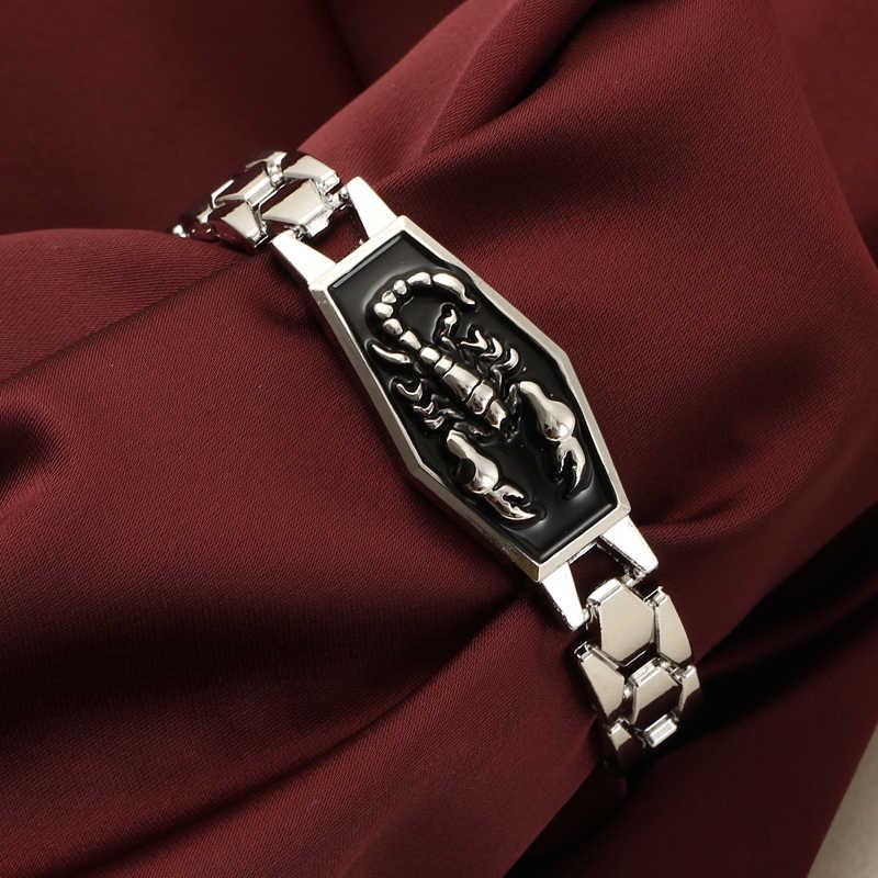 Hesiod alliage acier Scorpion Bracelets porte-bonheur hommes Punk Style métal Homme Bracelets Bracelets bracelet Homme bijoux