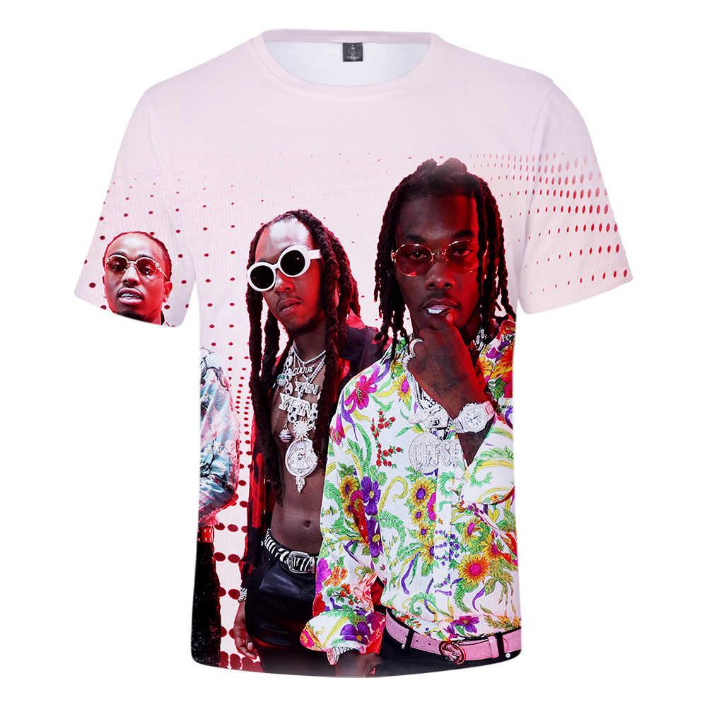 LUCKYFRIDAY Migos Rapper Men's T-Shirt Summer Round Neck Short Sleeve t  shirt Women/Men Casual Fashion Short Sleeve T-Shirt 3D