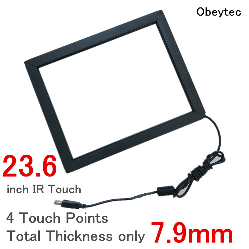 Obeytec 23.6 4 Points IR multi touch Frame, With glass, Wide screen 16:9, Anti-sunshine, Metal caseObeytec 23.6 4 Points IR multi touch Frame, With glass, Wide screen 16:9, Anti-sunshine, Metal case