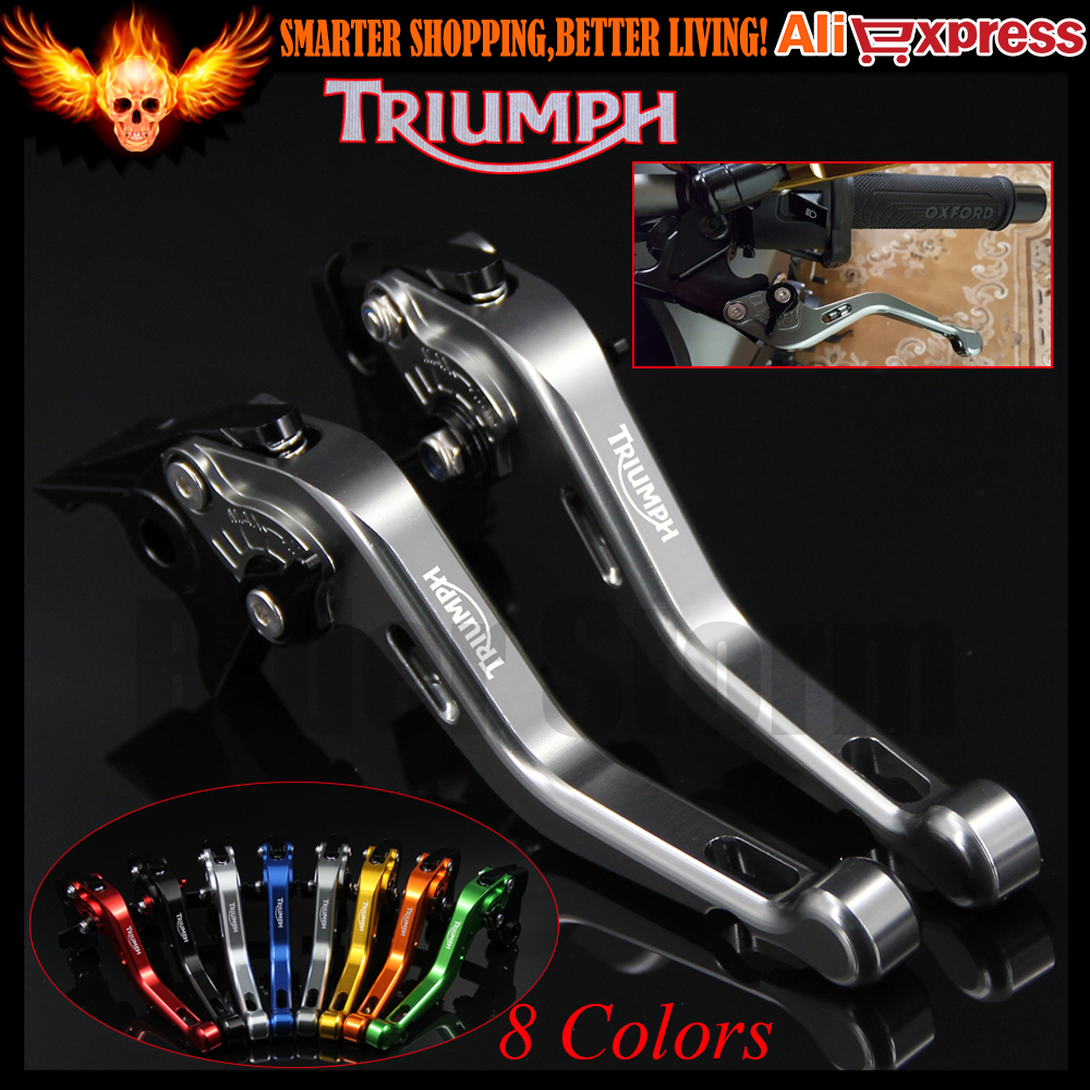 New Titanium 8 Colors CNC Aluminum Motorcycle Short Brake Clutch Levers For Triumph BONNEVILLE T120 2016