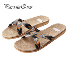 Hemp Spring Summer Men Women Shoes Flip Flops Home House Indoor Slippers Breathable 2017 Pasoataques Brand Asspfhp113