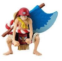 12CM Japanese Anime One Piece Latest Movie Film GOLD Kintaro Luffy With AXE In The Back