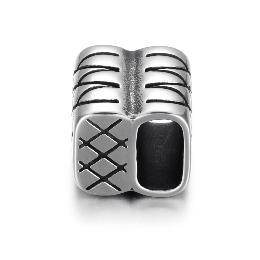 Stainless Steel End Cap Beads Adjuster Slide Connector Clasp Hole 11 6mm for DIY Bracelet Slider Jewelry Making Supplies in Jewelry Findings Components from Jewelry Accessories