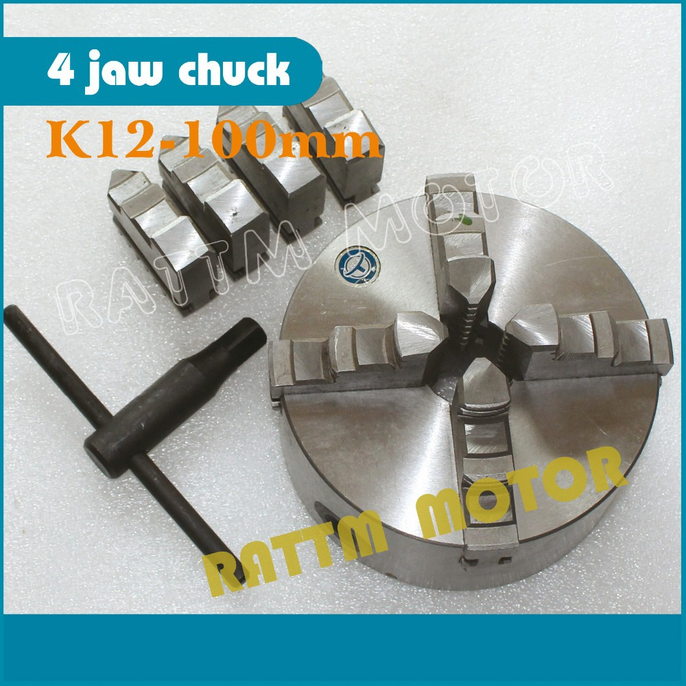 EU/Russia Delivery! Four 4 jaw self-centering chuck K12-100mm 4 jaw chuck Machine tool Lathe chuck four 4 jaw self centering chuck k12 125mm 4 jaw chuck machine tool lathe chuck
