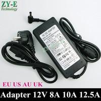 1X DC Power Supply 12V 10A led power supply AC110/220V Converter Adapter EU Plug 5.5 x 2.1mm 5050 Strip lihgt transformer