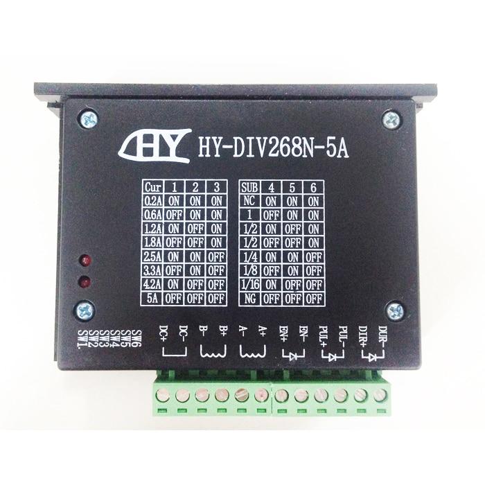 CNC Single Axis 2 Phase TB6600 Hybrid HY-DIV268N-5A Stepper Motor 12 ~ 48V for cnc router stepper motor motor drive 4 5a 50v single axis stepper motor drive for 42 57 86 stepper motor drive
