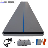 express shipping factory price china gymnastic landing mat inflatable air track 12m x 1.5m x 0.1m