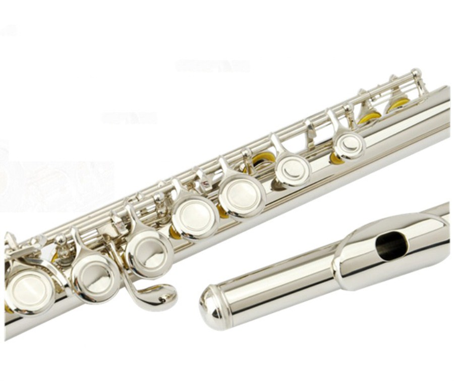 Japan High-quality flute YFL-222 silver flute C tune musical instruments E key flute music Professional Free shipping