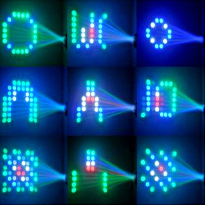 TRANSCTEGO Ljudbelysning DJ Disco Light Led Laser Lamp Mönster Party - Kommersiell belysning - Foto 6