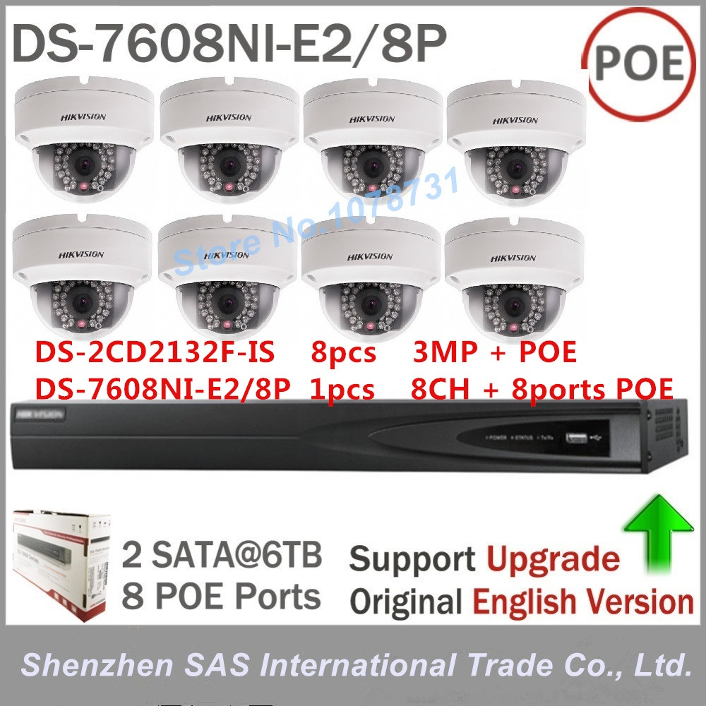 Hikvision Nvr Ds 7608ni E2 8p 8pcs Hikvision Ds 2cd2132f