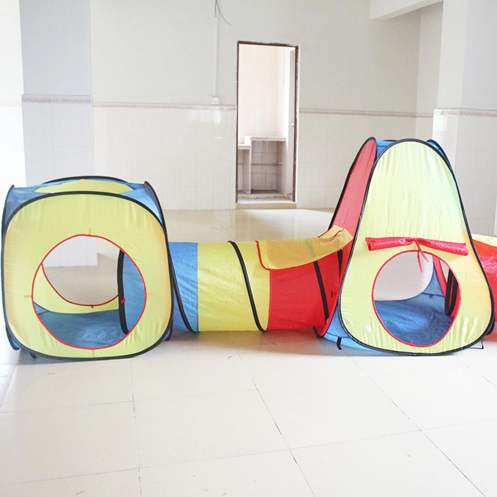 Tente de salle de jeux pour enfants avec Tunnel et cabane, Portable en plein air intérieur Pop Up pépinière balle Pit tente jouets enfants en bas âge jeu Sport