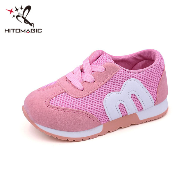 49d6412f17be0 Aliexpress.com : Buy HITOMAGIC Girl Boy Children's M Shoes Alphabet Letter  Mesh Casual Running Kids Shoes Sports Fashion Sneakers For Girls Boys from  ...