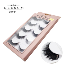 Glesum 3D Lashes Natural Handmade Volume Soft Long Eyelash Extension Real  For Makeup With Free Shipping