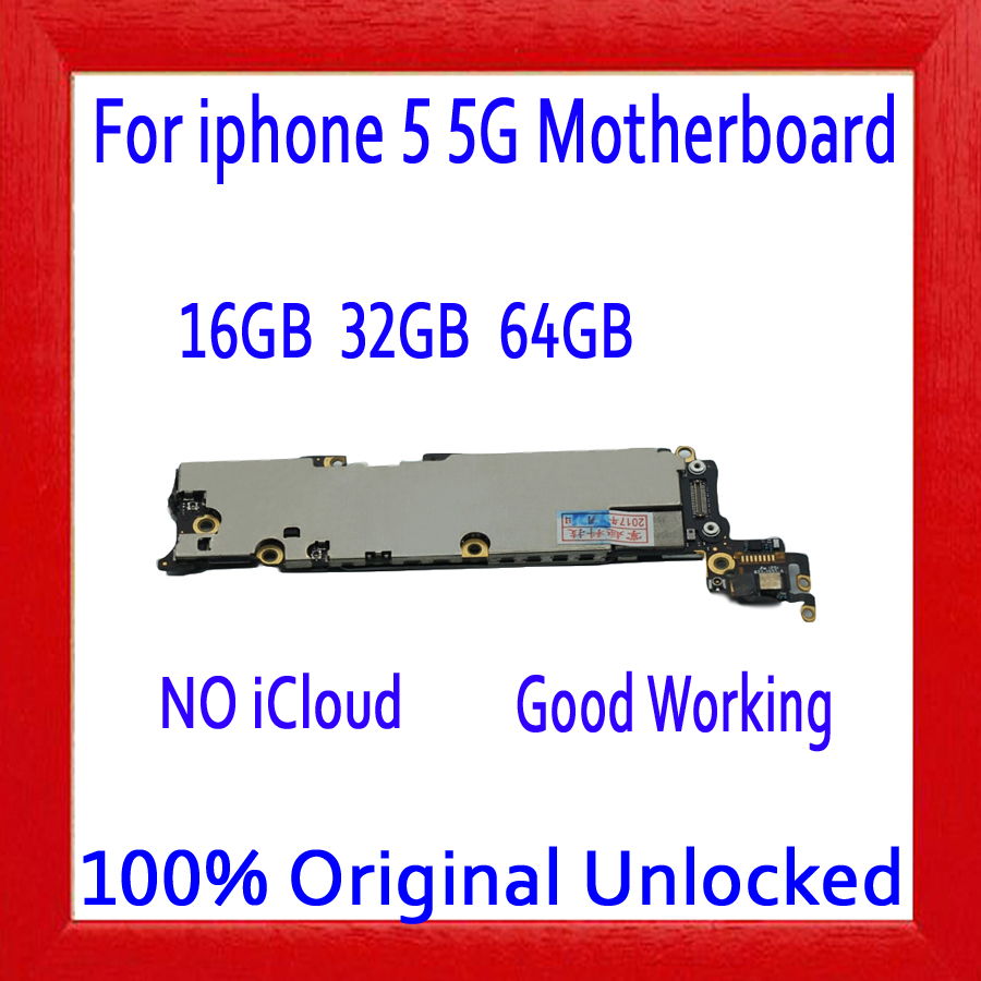 16gb /32gb /64gb for iphone 5 5g Motherboard with Full Chips,100% Original unlocked for iphone 5