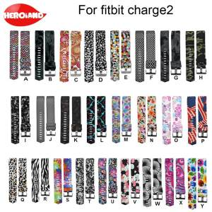 Bracelet Wristband Fitbit-Charge Sports Silicone for 2-Pattern Colorful Fashion New-Arrival