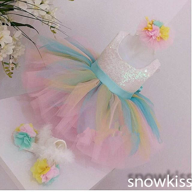 Cute colorful tulle short sequined ball gowns with bow sash lovely square collar birthday pageant flower girl dresses for kids new white ivory nice spaghetti straps sequined knee length a line flower girl dress beautiful square collar birthday party gowns
