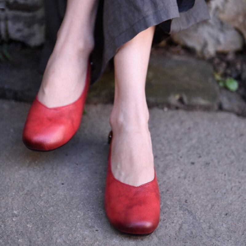 Artmu オリジナル 2019 春女性の靴フラット浅い口の本革ハンドメイドの靴ソフト唯一の靴 1826  グループ上の 靴 からの レディースフラット の中 1