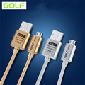 Original GOLF Metal Braided cable Nylon line Micro USB Data Sync Charger Cable for lenovo meizu xiaomi huawei sony asus htc sony