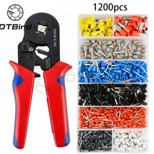 1200Pcs Wire Terminal Crimping Pliers Tools High Precision Clamp Multifunctional Hand Tool HSC8 0.25-10mm2 6-4A 23-7AWG 0 25 10mm2 23 7awg insulated