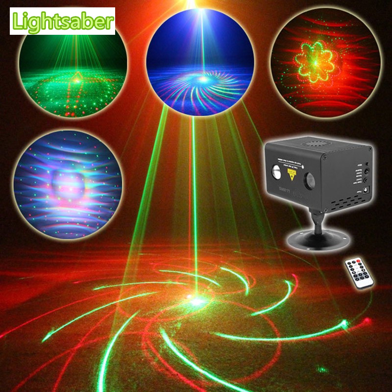 Remote 20 Patterns RG Led DJ Laser Stage Lighting Effect Galaxy RGB LED Red Green Stage Party Disco Professional Show Light 3 lens 36 patterns rg blue led new year christmas party laser projector stage lighting dj disco bar party show stage light