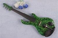 4/4 Violino Elettrico di legno Massello 20--28 # colore blu collo della chitarra 4 corde