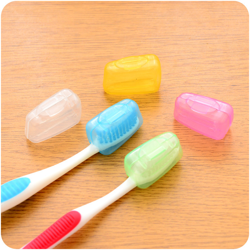5 PCS High Quality Transparent Portable Travel Toothbrush Head Cover Case Protective Caps Health Care