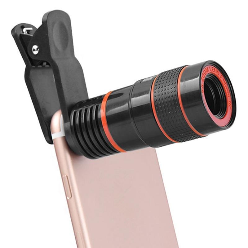 Universal 8X Zoom HD Optische Teleskop Digitalzoom Mit Clip für Samsung für HTC Mobile Handy Kamera Schwarz tragbare