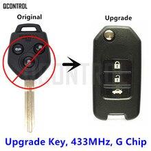 Qcontrol автомобиль дистанционного ключа 433 мГц обновления для Subaru XV 2012-2015 с G чип