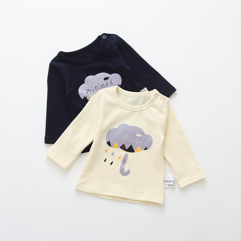 2017 Toddler Kids Baby Boys Girls Infant spring Autumn Long Sleeve cartoon Fox T-Shirt Tops Clothing Cotton cloud rain T-Shirts (13)