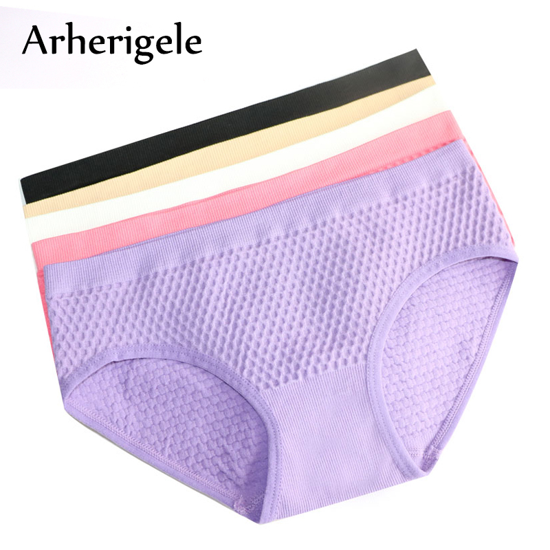 Buy Arherigele Sexy Lingerie Women's Panties Cotton Blend Ladies Briefs Seamless Panties Underwear Underpants Knickers Intimates