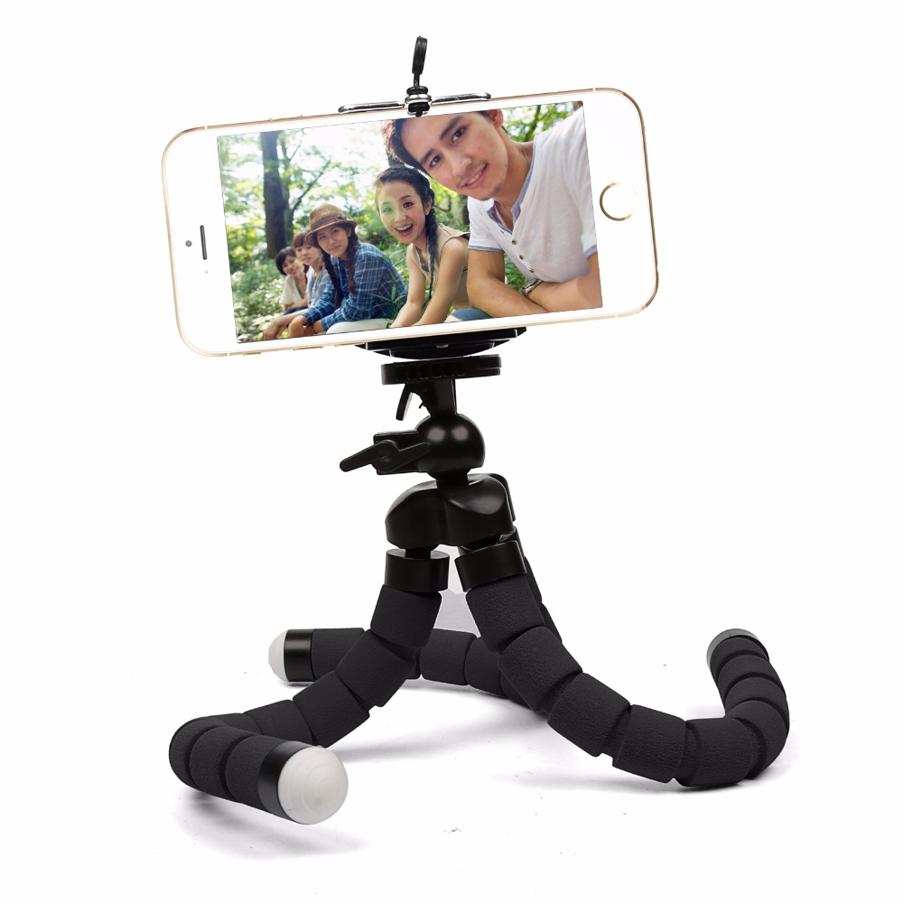 SHOOT Middle Size Flexible Octopus Tripod for Phone Stand Mount for Gopro Hero 6 5 4