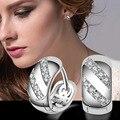 Стерлинг-серебро-ювелирные изделия pendientes mujer серьги 925 плата brincos earing stud orecchini oorbellen женщин кристаллические ювелирные изделия 16