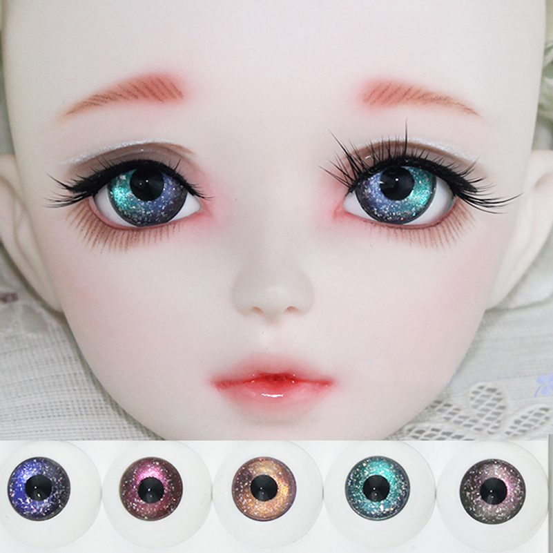Starry Gradient Blackbird BJD Doll Eyes 12mm 14mm 16mm 18mm Eyeball Fantasy Starry 1/3 1/4 1/6 SD BJD Doll Accessories Eye Ball