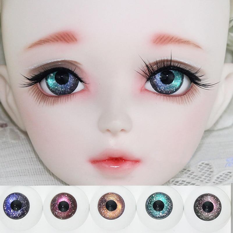 Starry Gradient Blackbird BJD Doll Eyes 12mm 14mm 16mm 18mm Eyeball Fantasy Starry 1/3 1/4 1/6 SD BJD Doll Accessories Eye Ball 1 3 1 4 1 6 bjd eyes 14mm 16mm blue eyeballs for sd msd ysd 70cm ball jointed doll tg 03