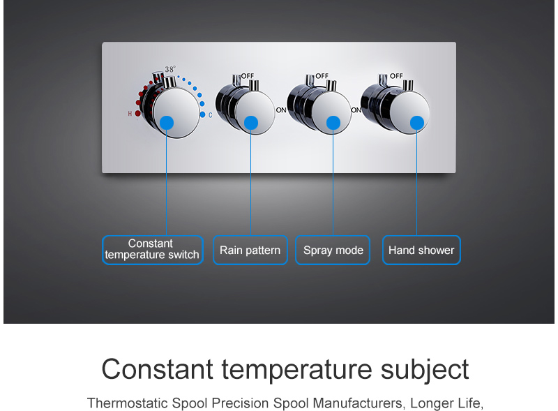 hm LED Ceiling Shower Set 20 Inch constant temperature Change Mist Rain Bathroom Shower Head Multiple Functions Shower Diverter (15)