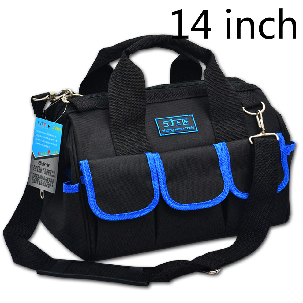 14 Inch Kit Canvas Multifunctional Portable Single Shoulder Electrician Tool Kit Hardware Repair Kit Manual Tool Upgrade canvas kit multifunction waist bag electrician repair water resistant pockets tool bag
