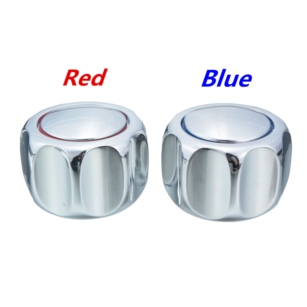 One Pair Heavy Round Metal Handle Tap Top/Head Chrome Plated (HOT ...