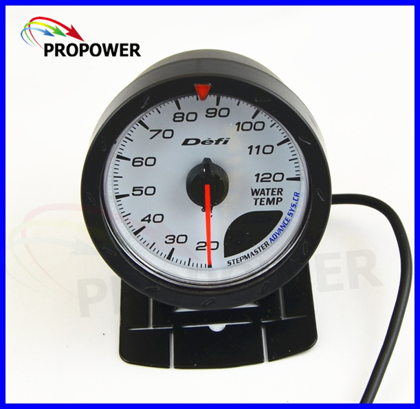 2.5 60MM DF Advance CR Gauge Meter Water Temp Temperature Gauge White Face With Temp Sensor sepp motorcycle water temperature meter digital thermometer temp gauge with color screen auto sensor for all cars