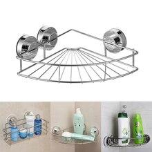 Acero inoxidable cocina baño Corner almacenamiento vacío abotonado ventosa  titular organizador almacenamiento estante(China) 42c5b5bc7574