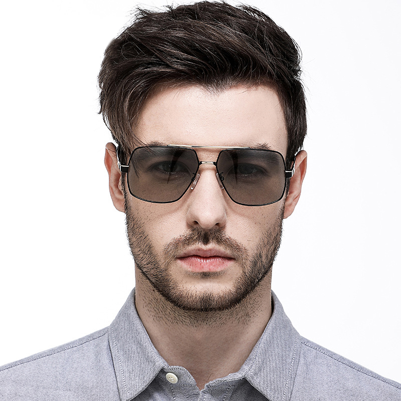 Fashion Polarized Photochromic Sunglasses Mens UV400 Driving HD Lens Glasses