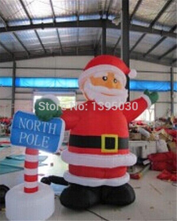 1 шт. 2.4 м Рождество арки надувные мультфильм Санта Клаус Газа модель Datang Рождество