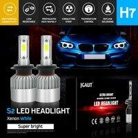 Modifygt S2 H7 led H4 Led H11 H1 9005 9006 72W 8000LM 6500K 24v COB Car LED Headlight Bulbs Hi Lo Beam Auto Headlamp led light